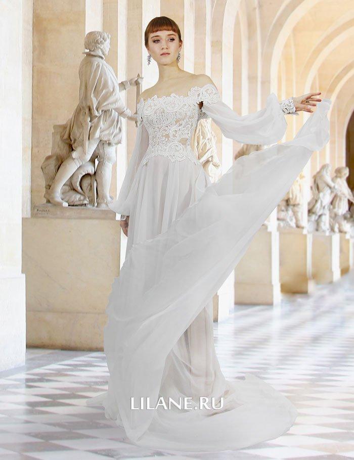 Лёгкая струящаяся юбка свадебного платья Gertruda