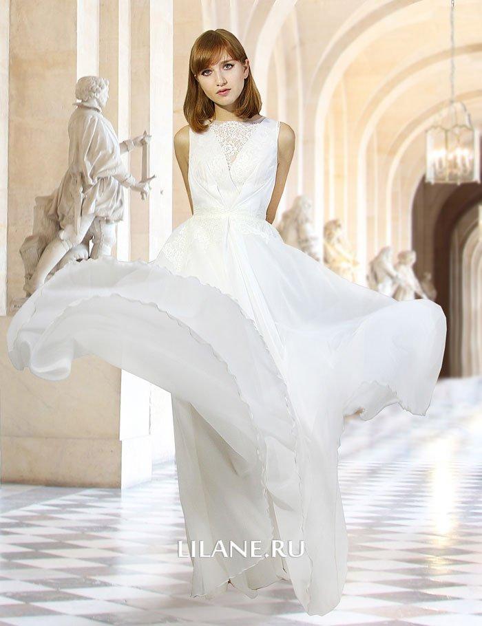 Лёгкое прямое свадебное платье Ida