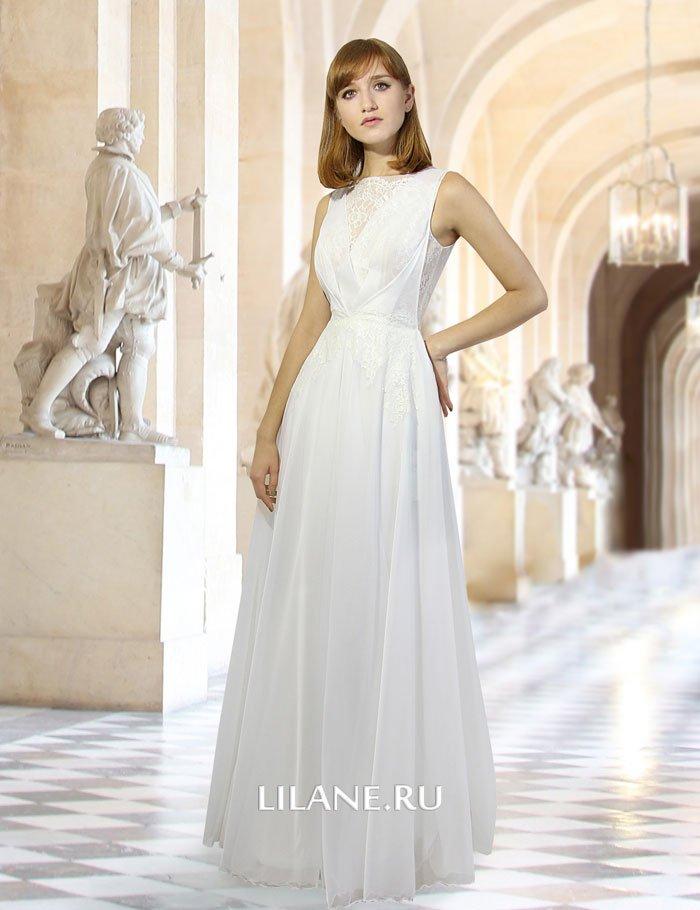Греческий стиль прямого свадебного платья Ida в греческом стиле