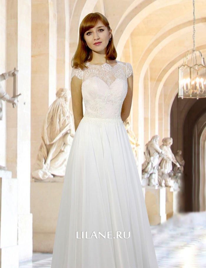 Закрытый верх прямого свадебного платья Idilia