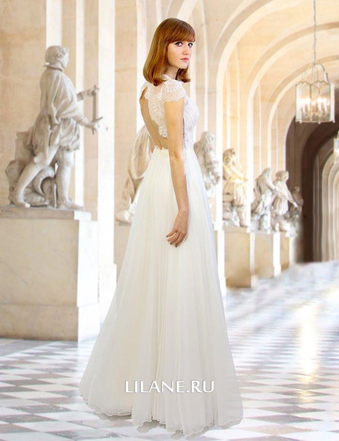 Спина прямого свадебного платья Idilia