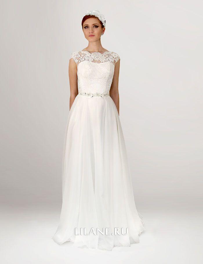 маечный верх прямого свадебного платья Inna