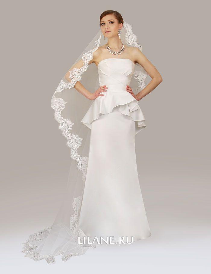 Съёмная баска прямого свадебного платья Klaris
