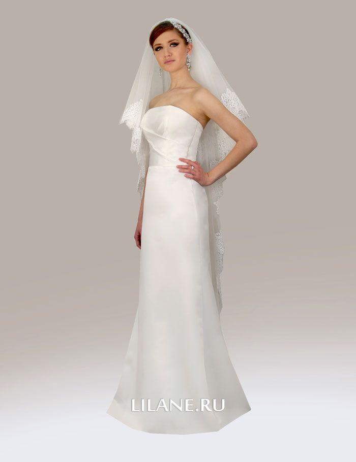 Элегантное прямое свадебное платье Klaris
