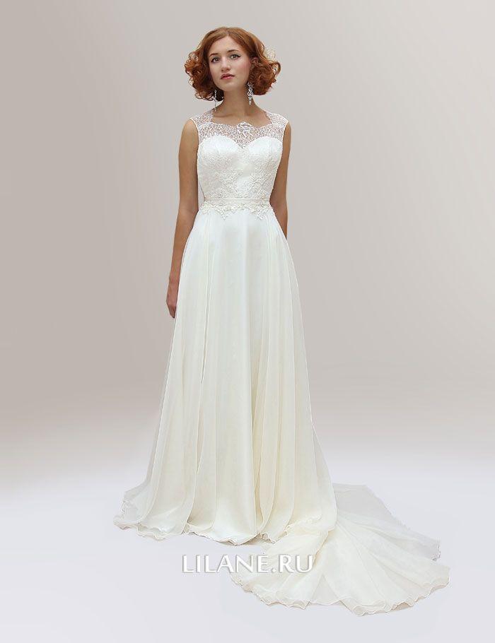 Шлейф прямого свадебного платья Ninel