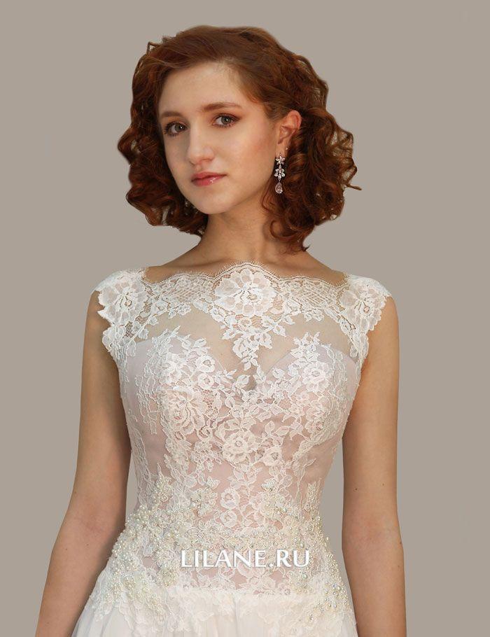 Корсет телесного цвета прямого свадебного платья Uma