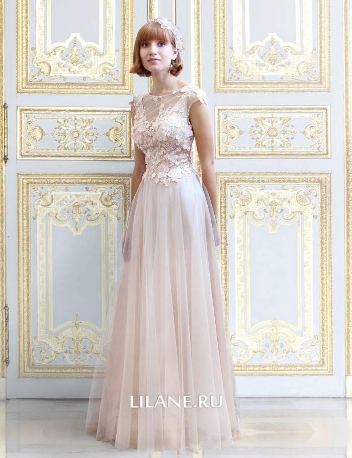 Цветное прямое свадебное платье Valentina
