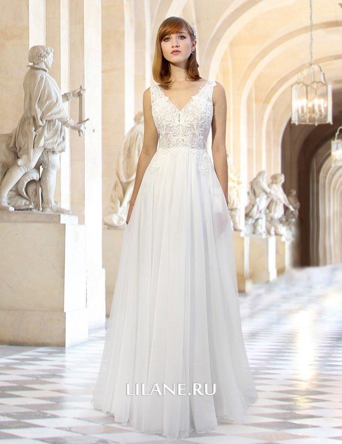 Прямое свадебное платье Valeri на застёжке молния.