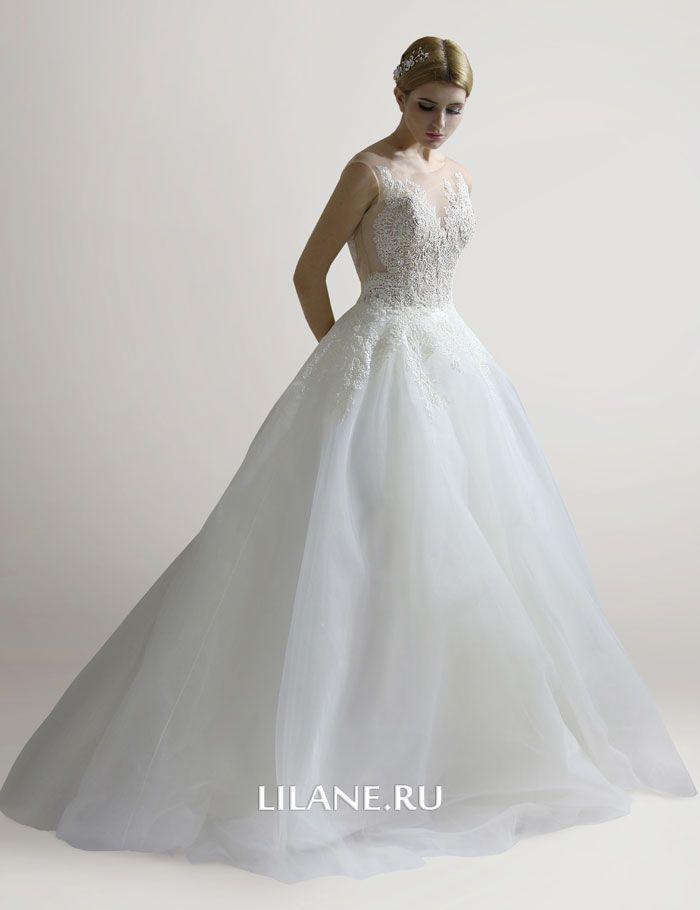 Многослойная юбка пышного свадебного платья