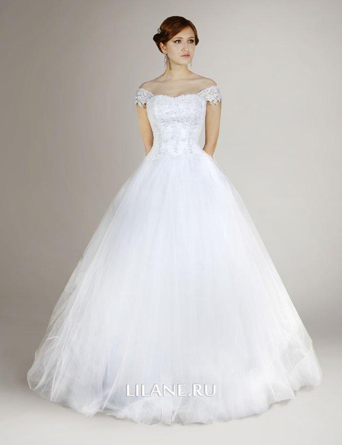 Юбка пышного свадебного платья Elen из мягкого нежного фатина