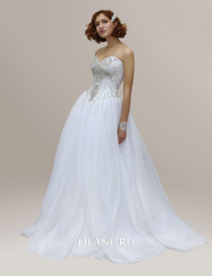 Роскошный корсет пышного свадебного платья Lea