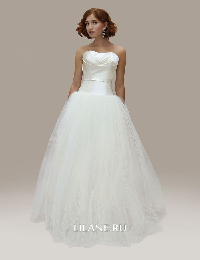 Пышное свадебное платье Liza цвета айвори