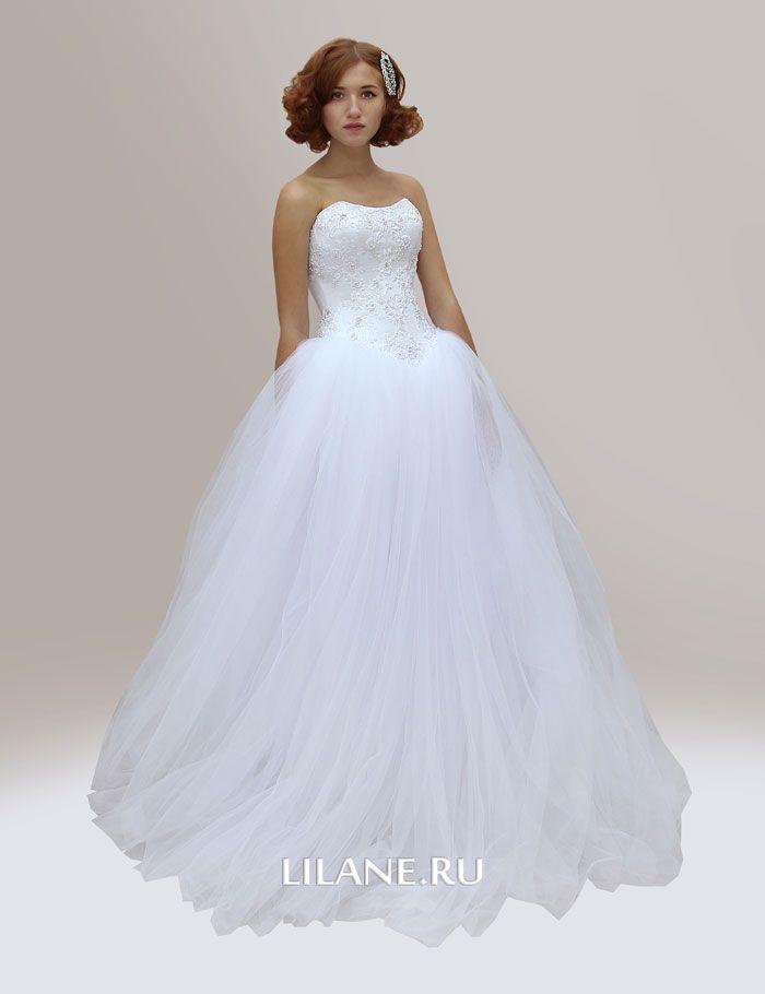 Пышное белое свадебное платье Stefani