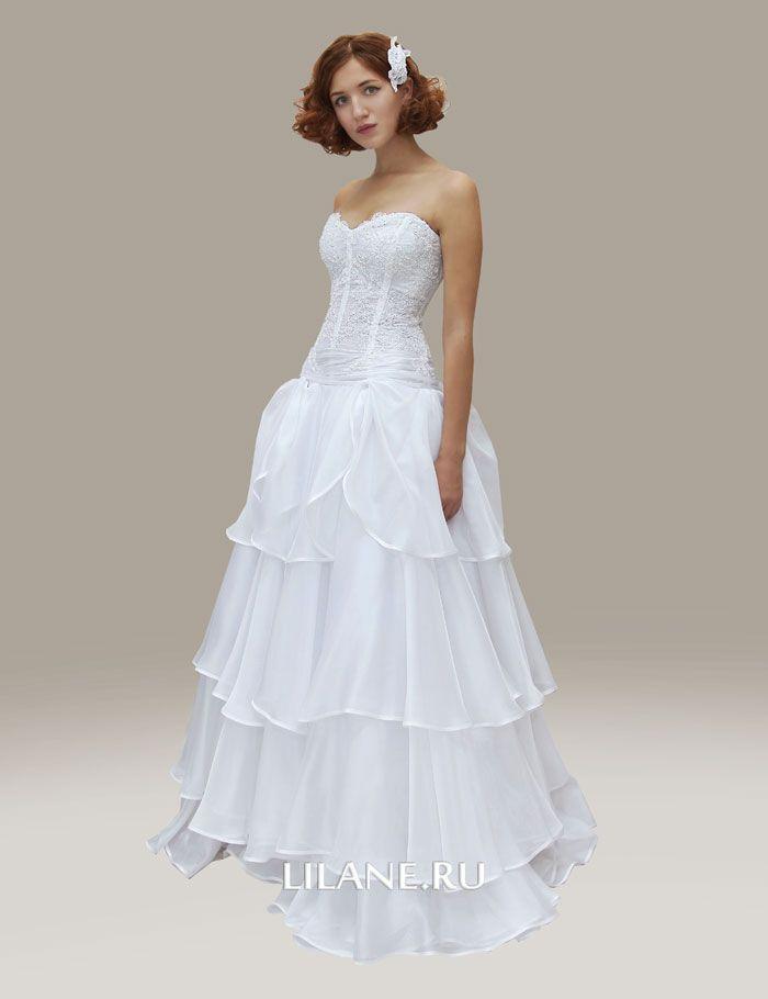 Пышное белое свадебное платье Syuzanna из органзы