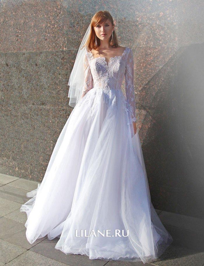 Пышное свадебное платье Valensiya с фатой