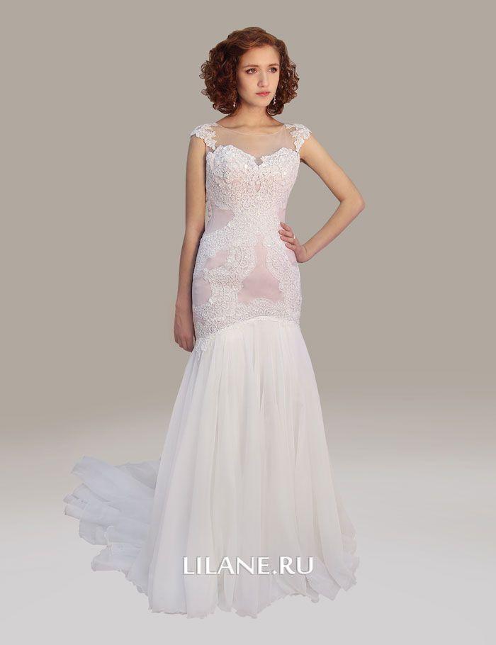 Кружево свадебного платья рыбка Emma