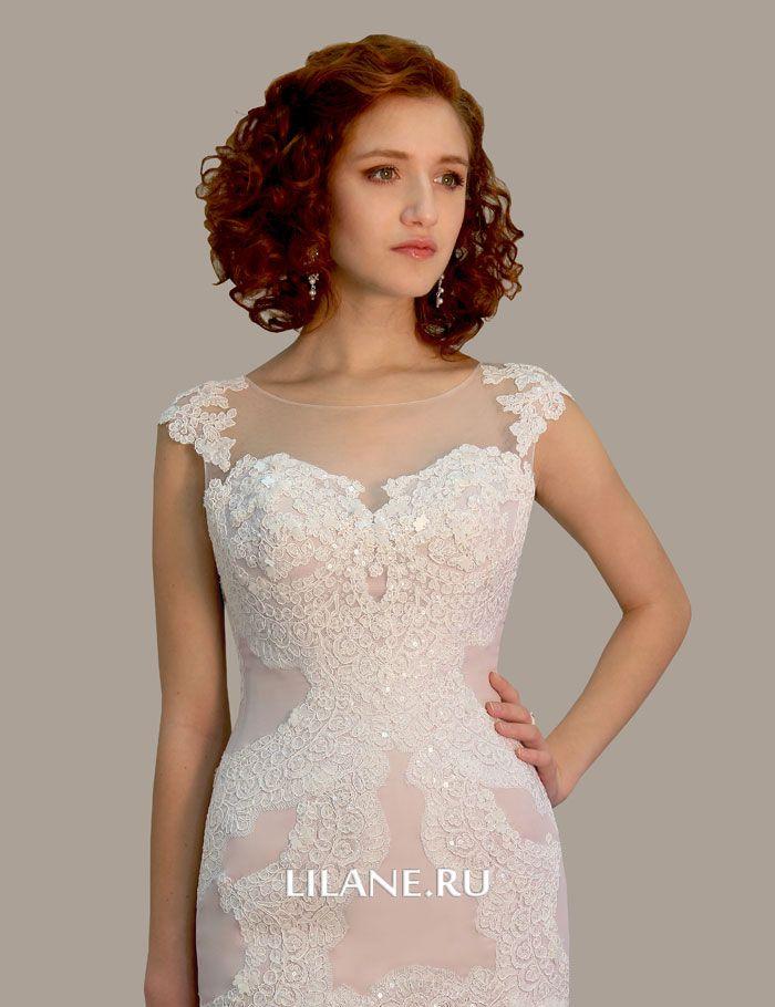 Кружевной декор и вышивка Emma свадебного платья рыбка Emma