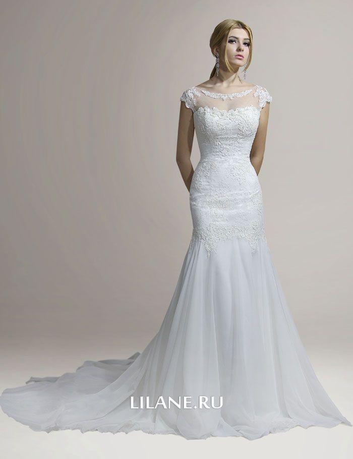 Кружево корсетного свадебного платья рыбка Lana