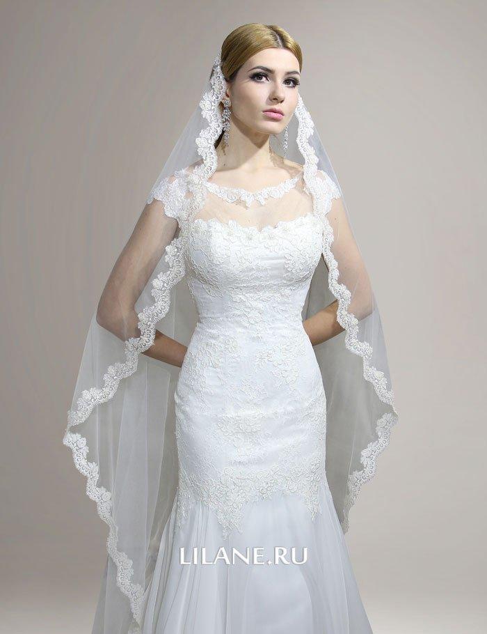 Фата свадебного платья рыбка Lana