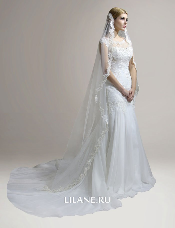 Силуэт свадебного платья рыбка Lana