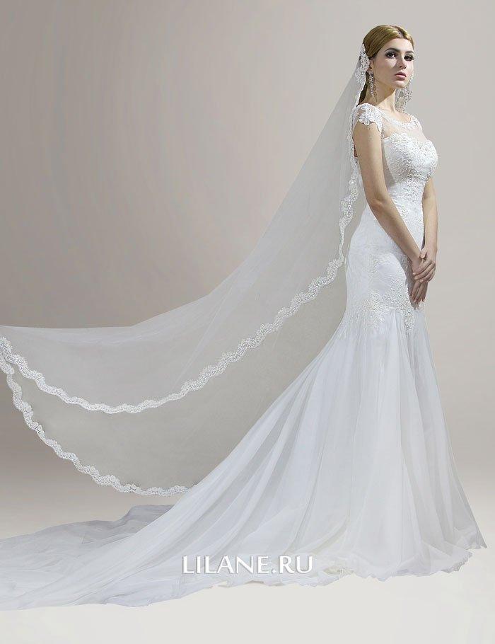 Шлейф свадебного платья рыбка Lana