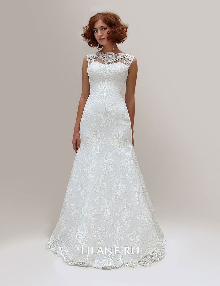 Кружевное свадебное платье рабка Lola цвета айвори