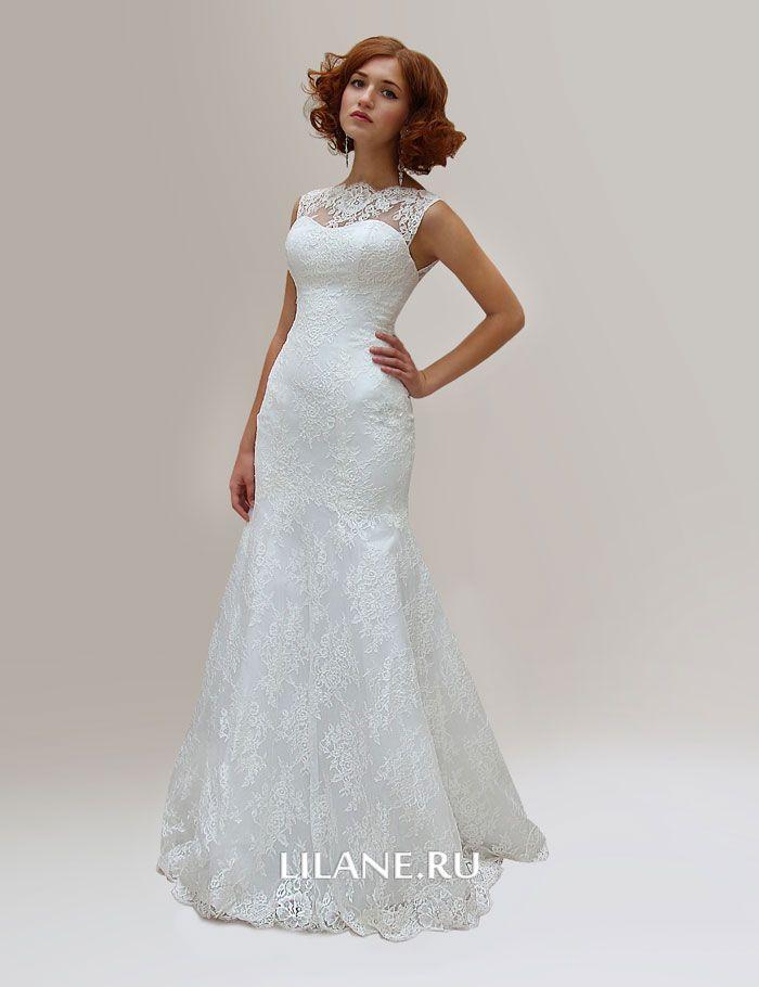 Свадебное платье рыбка Lola сшито из изящного кружева