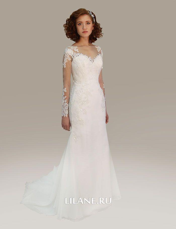 Отстёгивающийся шлейф свадебного платья рыбка Luiza