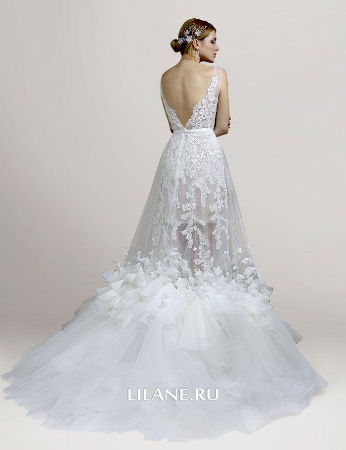 Спинка свадебного платья трансформер Lilian