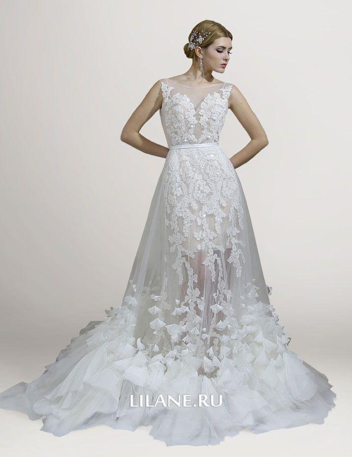 Кружево свадебного платья трансформер Lilian
