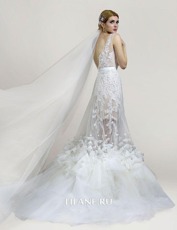 Оригинальная и роскошная съёмная юбка со шлейфом свадебного платья трансформер Lilian