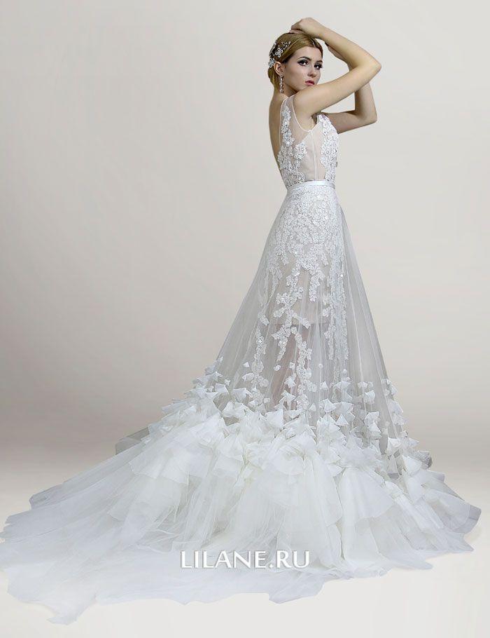 Подклад телесного цвета свадебного платья трансформер Lilian