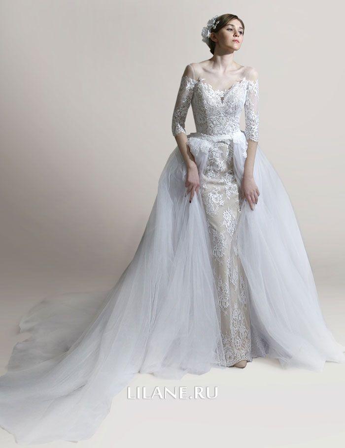 Съёмная пышная юбка свадебноого платья трансформер Manon
