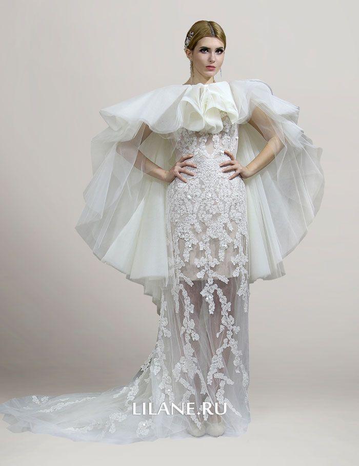 Подклад телесного цвета свадебного платья трансформер Monika